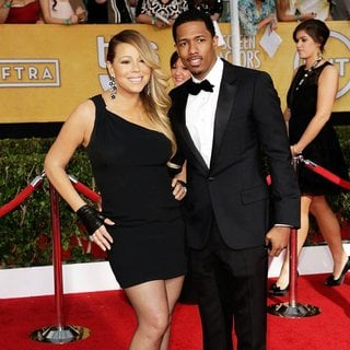 Mariah Carey, Nick Cannon in The 20th Annual Screen Actors Guild Awards - Arrivals