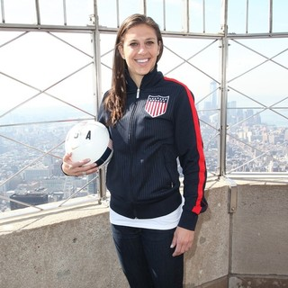 Lloyd - U.S. Soccer Players and Coaches Light The Empire State Building Red, White and Blue