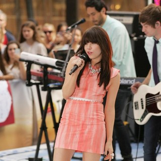Carly Rae Jepsen Performing Live During The Today Show Summer Concert Series