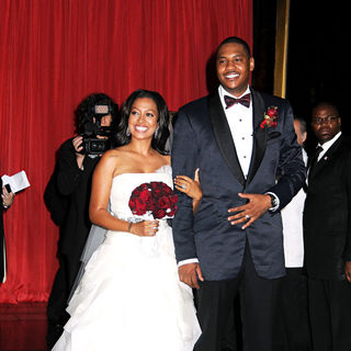 La La Vazquez, Carmelo Anthony in The Wedding of La La Vasquez and Carmelo Anthony