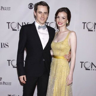 Reeve Carney, Jennifer Damiano in The 65th Annual Tony Awards - Arrivals