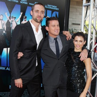 Reid Carolin, Channing Tatum, Jenna Dewan in 2012 Los Angeles Film Festival - Closing Night Gala - Premiere Magic Mike