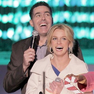 Adam Carolla, Britney Spears in Britney Spears Switching on The Nokia Theatre Christmas Tree Lights