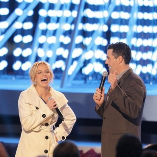 Britney Spears, Adam Carolla in Britney Spears Switching on The Nokia Theatre Christmas Tree Lights