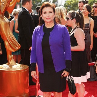 Carrie Fisher in 2011 Primetime Creative Arts Emmy Awards - Arrivals