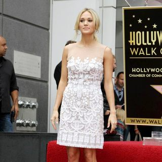 Carrie Underwood in Simon Fuller Receives A Star on The Hollywood Walk of Fame