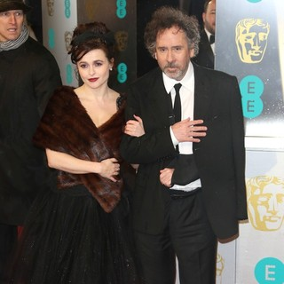Helena Bonham Carter, Tim Burton in The 2013 EE British Academy Film Awards - Arrivals