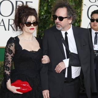 Helena Bonham Carter, Tim Burton in 70th Annual Golden Globe Awards - Arrivals