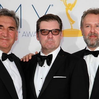 Jim Carter, Brendan Coyle, Hugh Bonneville in 64th Annual Primetime Emmy Awards - Arrivals