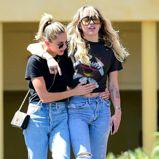 Kaitlynn Carter and Miley Cyrus at Los Angeles