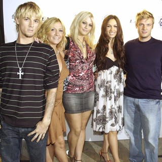 Aaron Carter, BJ Carter, Leslie Carter, Angel Carter, Nick Carter in Howie Dorough of The Backstreet boys and Dave Ockun's Birthday Party Raising Awareness of Lupus