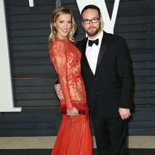 Katie Cassidy, Dana Brunetti in 2015 Vanity Fair Oscar Party