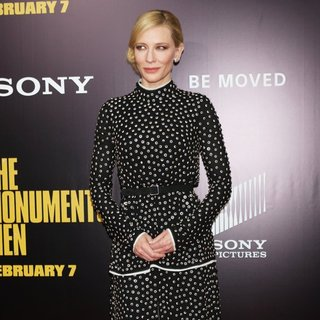 Cate Blanchett in New York Premiere of The Monuments Men - Inside Arrivals