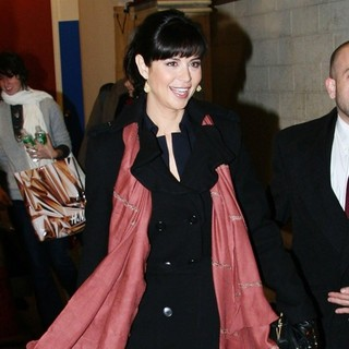 Catherine Bell in Catherine Bell Outside ABC Studios for Live with Regis and Kelly