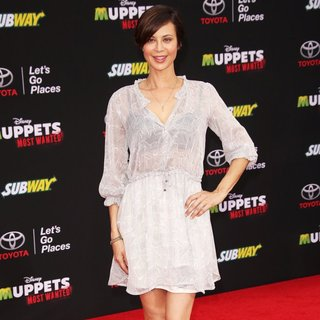 Los Angeles Premiere of Disney's Muppets Most Wanted - Red Carpet Arrivals - catherine-bell-premiere-muppets-most-wanted-04