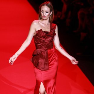 Catt Sadler in Mercedes-Benz Fashion Week Fall 2015 - Go Red for Women Red Dress Collection - Runway