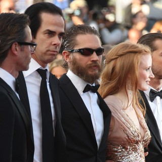 Nick Cave, Tom Hardy, Jessica Chastain in Lawless Premiere - During The 65th Annual Cannes Film Festival