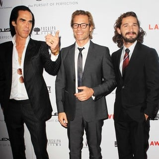 Nick Cave, Guy Pearce, Shia LaBeouf in The Premiere of Lawless