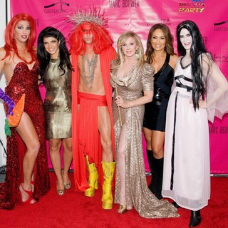 Candis Cayne, Teresa Giudice, Marc Bouwer, Morgan Fairchild, Tia Carrere, Alex McCord in Pop Art Halloween Presented by Morgan Fairchild and Marc Bouwer