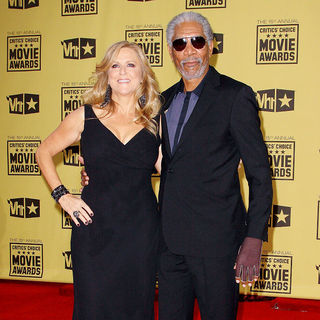 Lori McCreary, Morgan Freeman in 15th Annual Critics' Choice Movie Awards