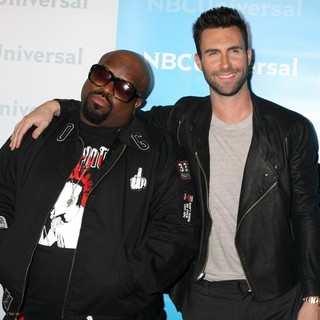Cee-Lo, Adam Levine in NBC Universal's Winter Tour Party - Arrivals