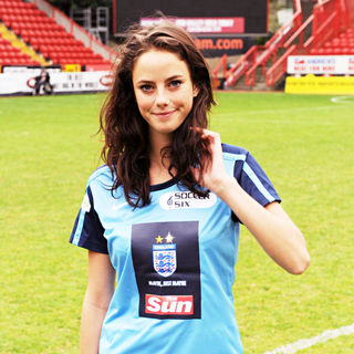 Kaya Scodelario in 2010 Soccer Six Tournament at Charlton Athletic Football Club