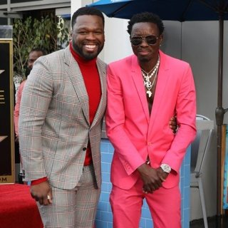 50 Cent, Michael Blackson in 50 Cent Is Honored with A Star on The Hollywood Walk of Fame