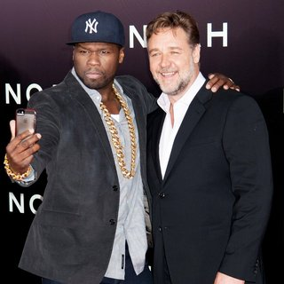 50 Cent, Russell Crowe in Noah New York Premiere