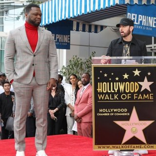 50 Cent, Eminem in 50 Cent Is Honored with A Star on The Hollywood Walk of Fame