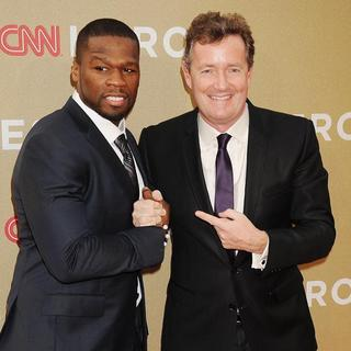 50 Cent, Piers Morgan in 2011 CNN Heroes: An All-Star Tribute