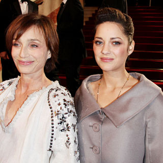 Kristin Scott Thomas, Marion Cotillard in The 35th Annual Cesar Awards 2010 - Arrivals and Press Room