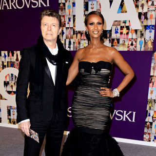 David Bowie, Iman in 2010 CFDA Fashion Awards - Arrivals
