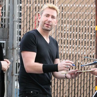 Chad Kroeger, Nickelback in Celebrities at The Jimmy Kimmel Live! Studios
