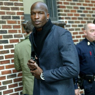 Chad Ochocinco in Chad Ochocinco Outside The Ed Sullivan Theater for The Late Show With David Letterman