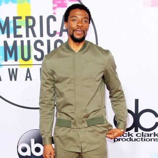 Chadwick Boseman in 2017 American Music Awards - Arrivals