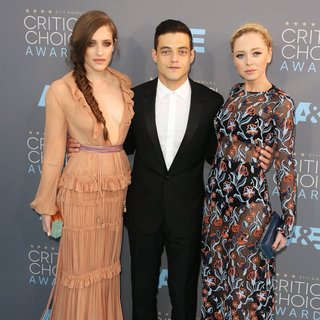 Carly Chaikin, Rami Malek, Portia Doubleday in 21st Annual Critics' Choice Awards - Arrivals