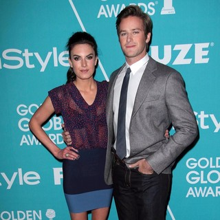 Elizabeth Chambers, Armie Hammer in The Hollywood Foreign Press Association and InStyle Present A Night of Firsts
