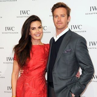 Elizabeth Chambers, Armie Hammer in IWC Schaffhausen and Tribeca Film Festival Host for The Love of Cinema Celebration Dinner