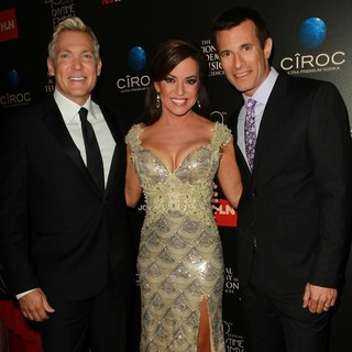 Sam Champion, Robin Meade, A.J. Hammer in The 40th Annual Daytime Emmy Awards - Arrivals