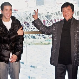 Jaycee Chan, Jackie Chan in Jackie Chan and His Friends Concert - Press Conference