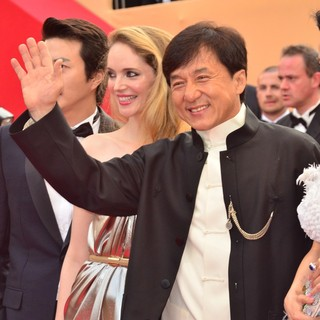 Laura Weissbecker, Jackie Chan in Rust and Bone Premiere - During The 65th Annual Cannes Film Festival