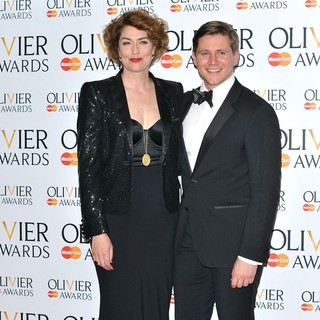 Anna Chancellor, Allen Leech in The Olivier Awards 2013 - Press Room