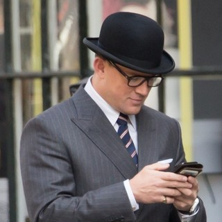 Channing Tatum Films Scenes for Kingsman: The Golden Circle