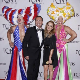 Tim Chappel, Lizzy Gardiner in The 65th Annual Tony Awards - Arrivals