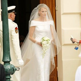 Charlene Wittstock in Religious Ceremony of The Royal Wedding of Prince Albert II of Monaco to Charlene Wittstock