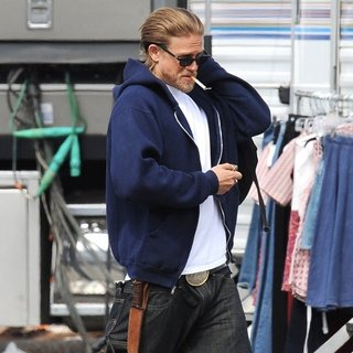 Charlie Hunnam in On The Set of Sons of Anarchy