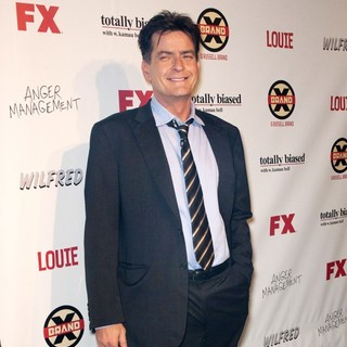 Charlie Sheen in FX Summer Comedies Party