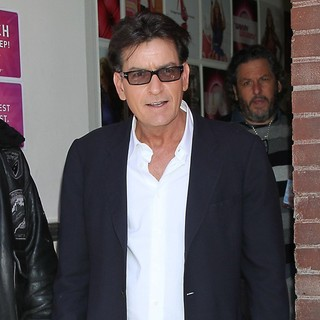 Charlie Sheen in Charlie Sheen Outside The Wendy Williams Show