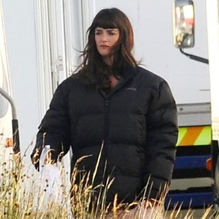 Charlotte Le Bon in On The Set of Asterix and Obelix God Save Britannia Shooting on Location