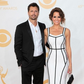 David Charvet, Brooke Burke in 65th Annual Primetime Emmy Awards - Arrivals